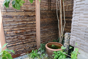 大宏園の竹垣の実例