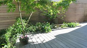 【実例:デッキ・雑木】神奈川県横浜市F邸の庭